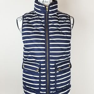 J.Crew Excursion Striped Quilted Puffer Vest XS
